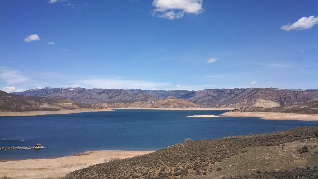 The beautiful Blue Mesa Reservoir Lake