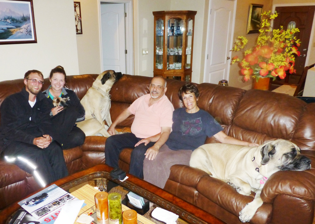 Us, the Delaurentis family, and their gigantic Mastiffs