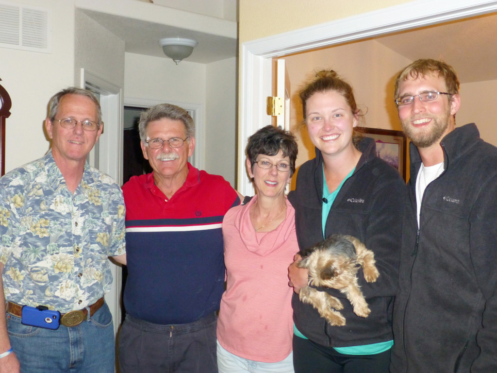 Michele, her husband, Tom, and her brother, Jay. And Mike and Lindsie and Jaeda.
