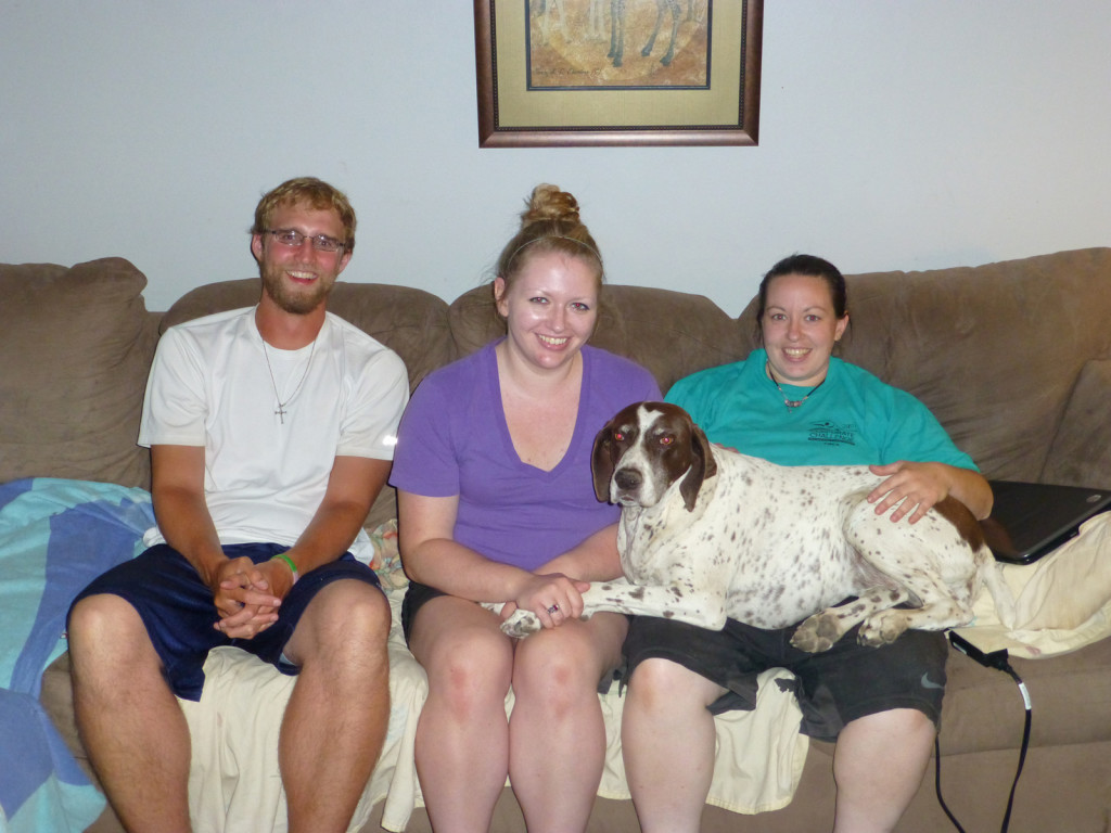 Mike, Katie, Alex and Gretchen the dog