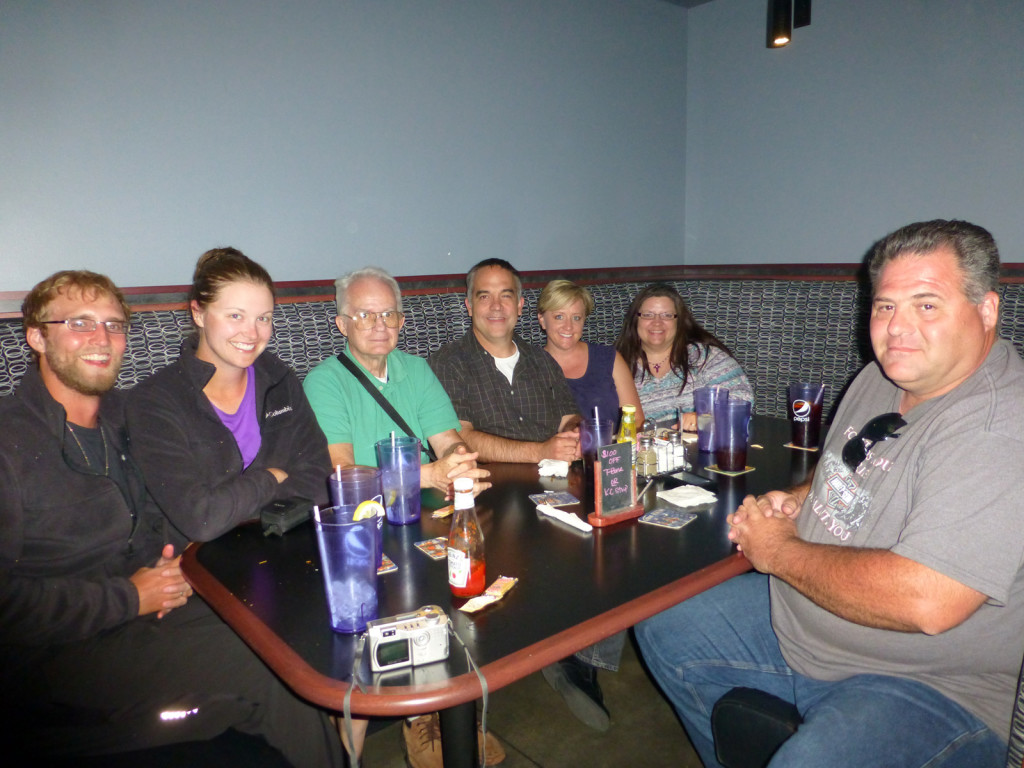 Mike, Lindsie, Thurmon, Greg, Heidi, Stephanie, and Sean (left to right)