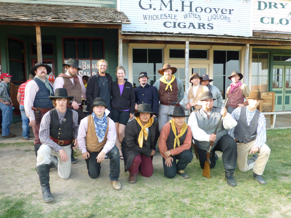 Mike and Lindsie with the Boot Hill Museum gunfighters