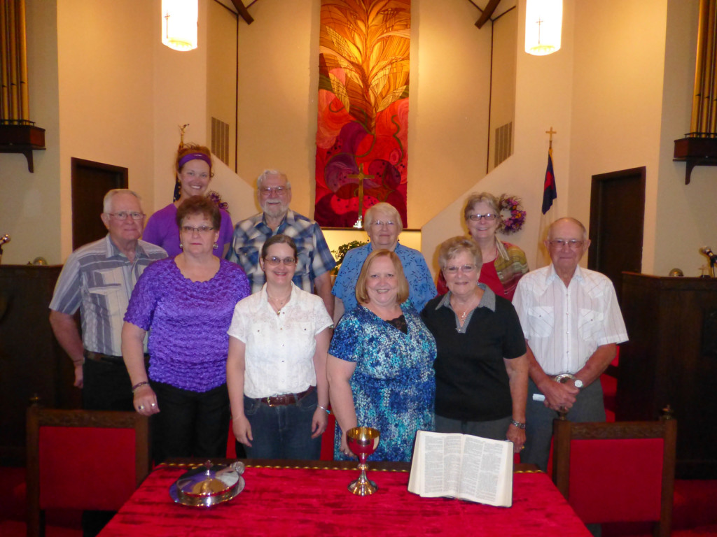The crew from the Christian Church in Lewis