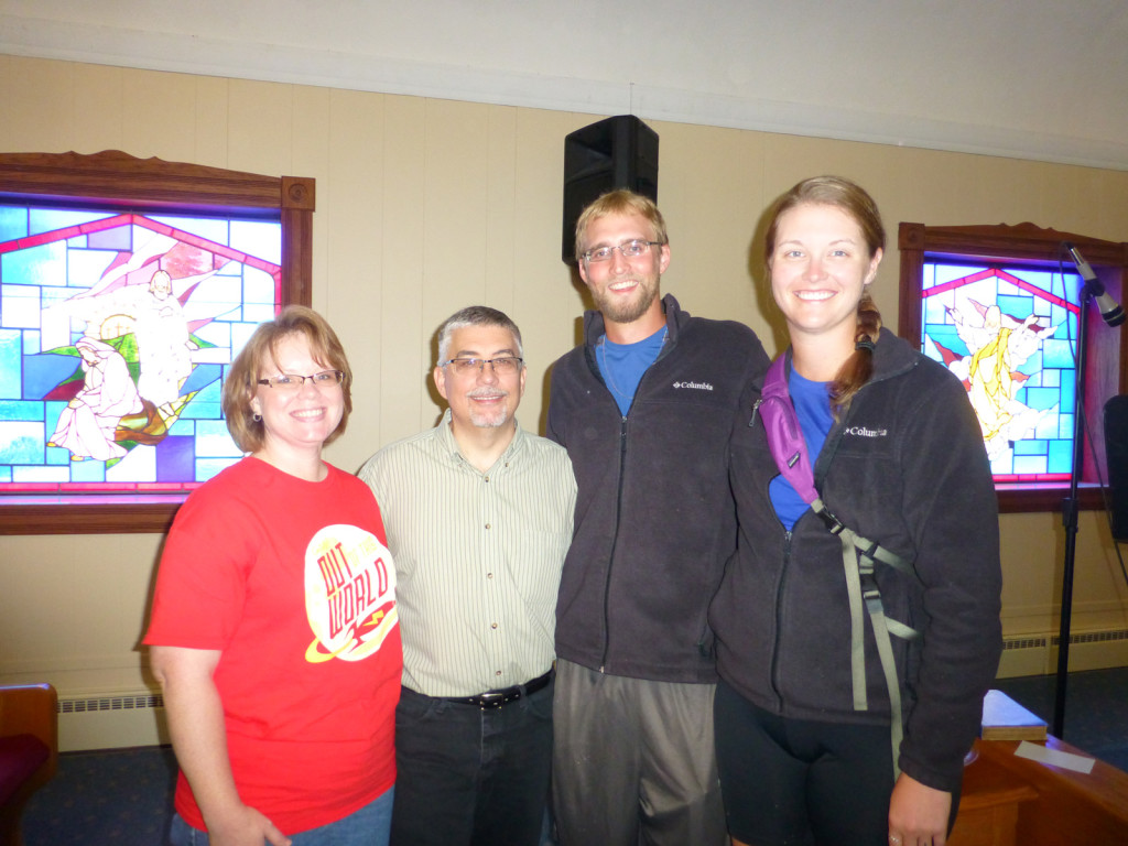 Pastor Bobby and his wife, Dianne, with Mike and Lindsie