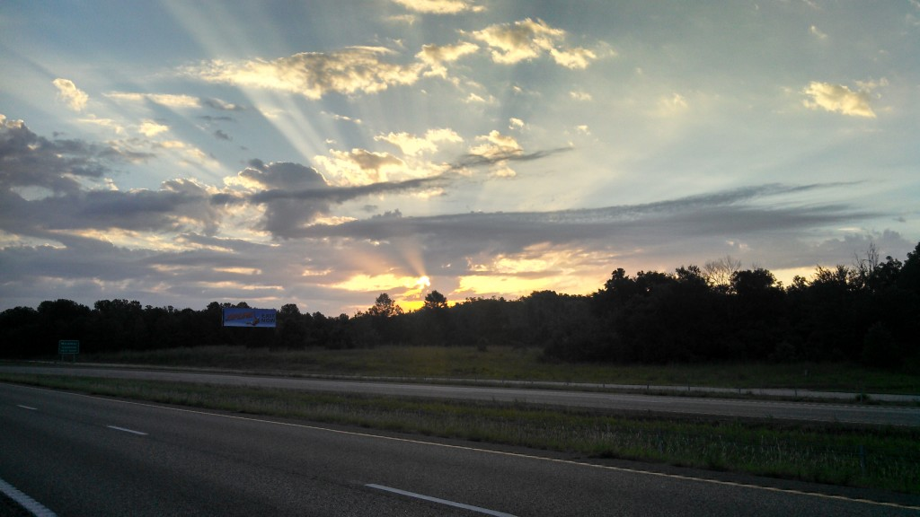 Another beautiful sunrise from the road...