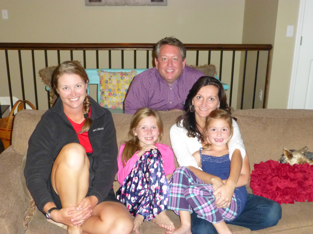 Lindsie, Graceanna, Pastor Brent, Renée, and Elaina
