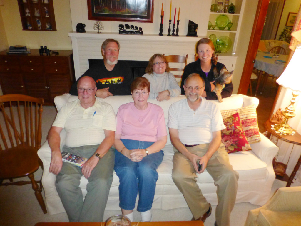 Glen, Brooks, Carolyn, Regina, Pastor Alan, Lindsie, and Jaeda