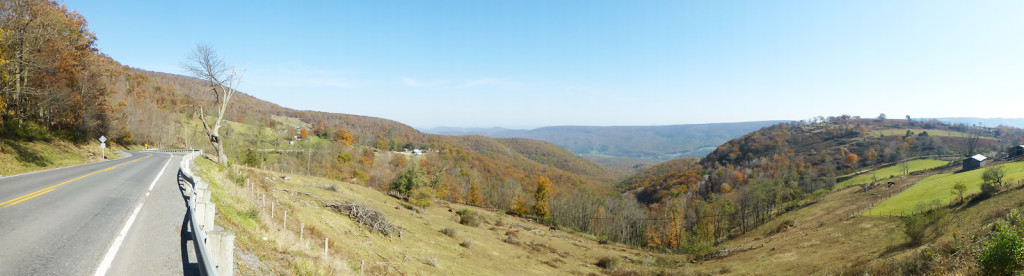 A sweet panorama of the West Virginia mountaintops...