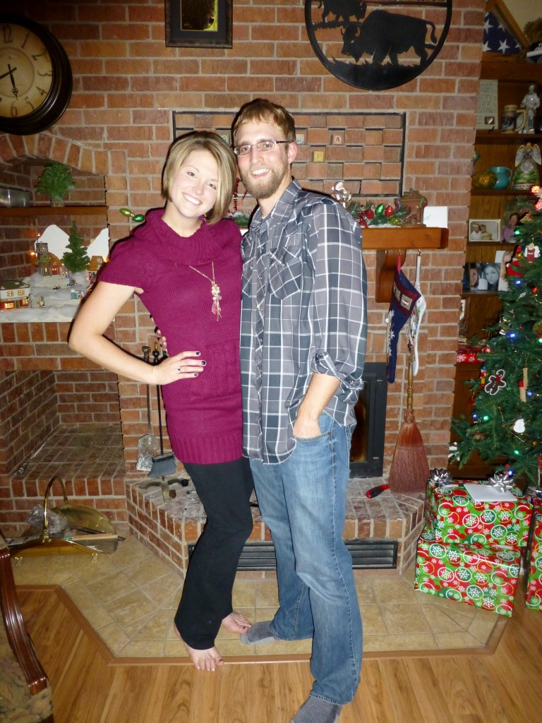Lindsie and Mike at Christmastime